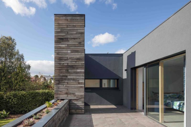 The Deerings - RIBA Award winnng pasivhaus using ProWall rendered rainscreen cladding
