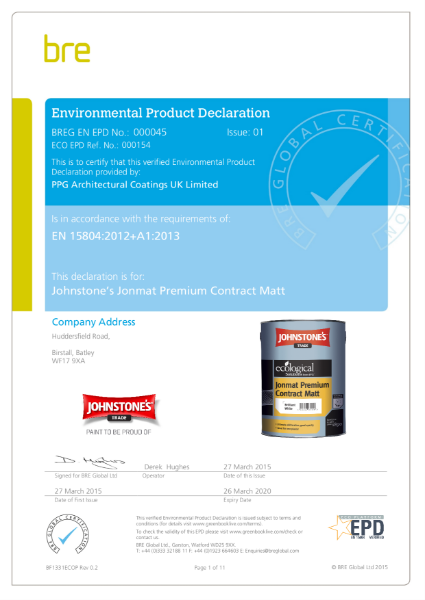 Environmental Product Declaration (EPD): BREG EN EPD No.: 000045