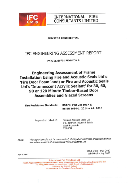 IFC Engineering Assessment Report
