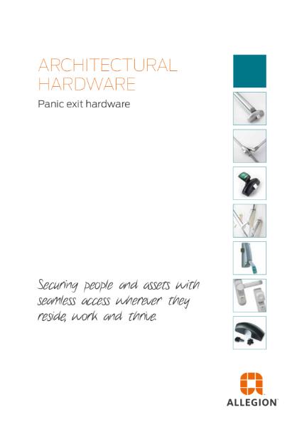 Allegion Panic Exit Hardware Catalogue