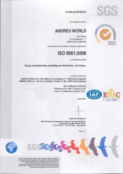 BS EN ISO 9001: 2008 Certificate