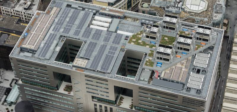 IKO PermaTEC hot melt - roofing at a groundscaping scale at 5 Broadgate