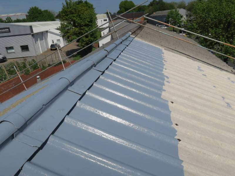 Asbestos roof coating installation Birmingham