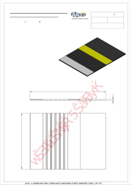 Anti-slip platform edge tile, type PET 1® Cast metal