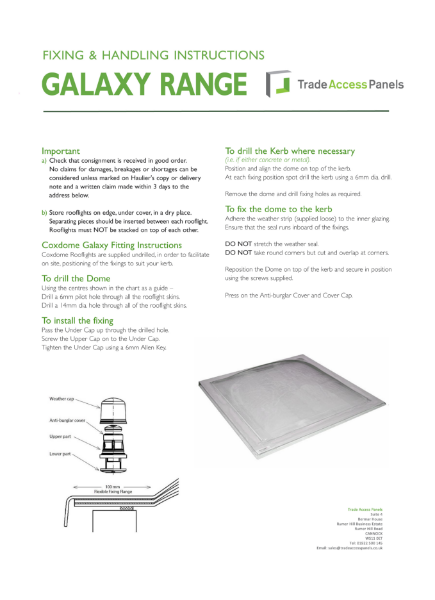 Galaxy Fitting Instructions