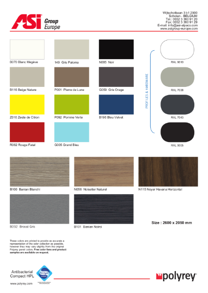 Cubicles Color Selection Guide