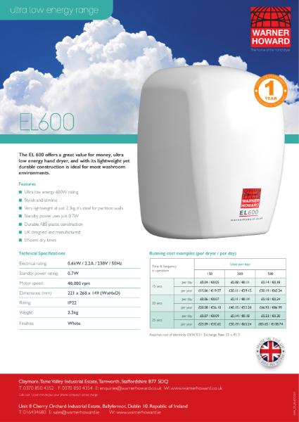 EL600 Hand Dryer