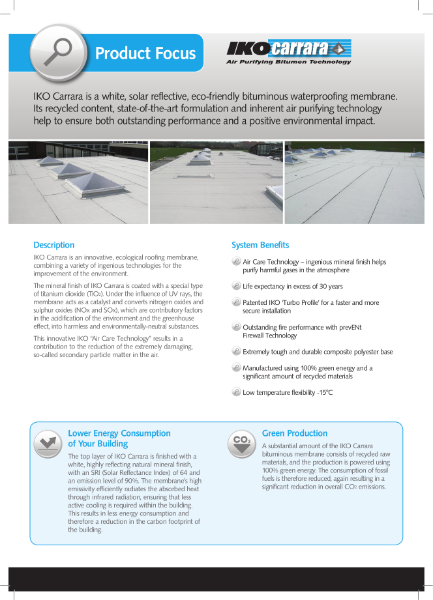IKO Carrara: Air Purifying Technology