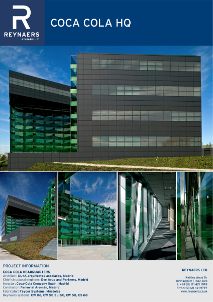 Case Study: Coca Cola, featuring CW 50 curtain wall