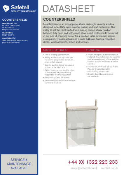 CounterShield Moving Security Window