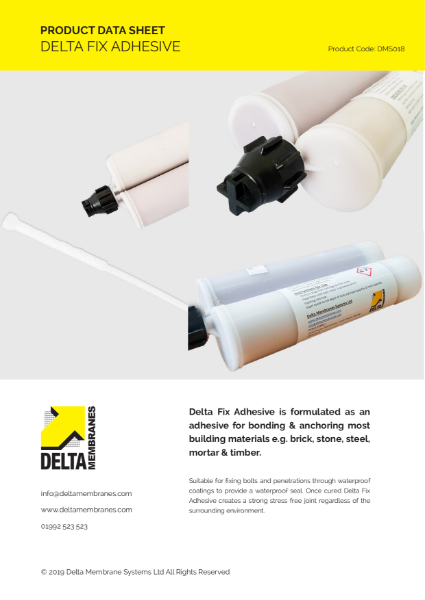 Delta Fix Adhestive Product Data Sheet