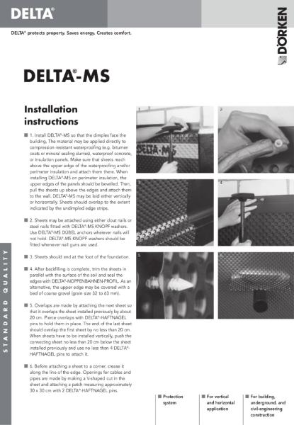 Delta-MS Installation Information