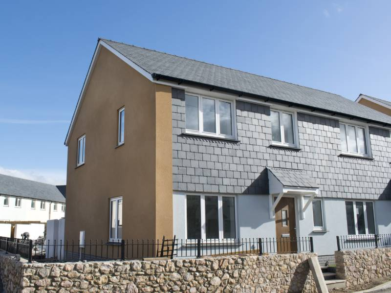 Silicone monocouche render for new build eco-houses