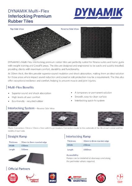 Multi-Flex Rubber Gym Tiles