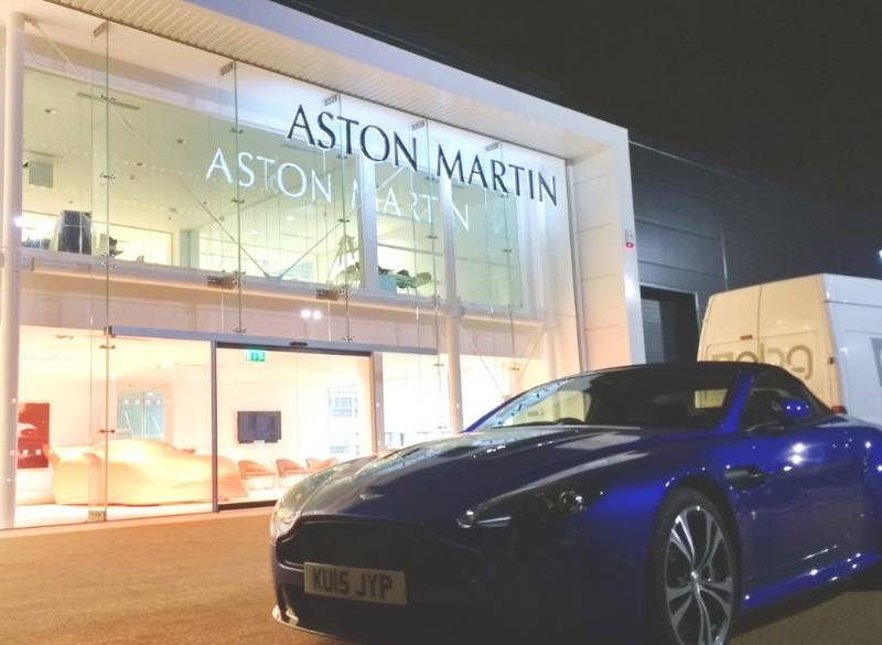 record uk's Precision Engineered Automatic Doors for Aston Martin's Newcastle Showroom