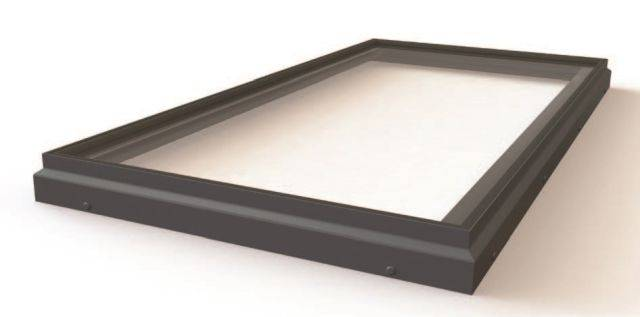 RG-80-20 Fixed Flat Glass Single Pane Rooflight