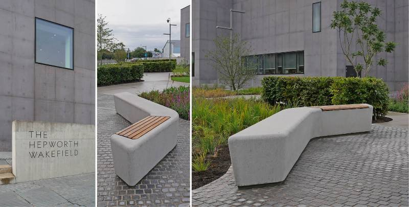 Bespoke, concrete benches for famous art gallery