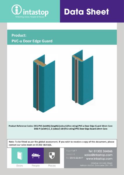 PVCu Door Edge Guard Data Sheet