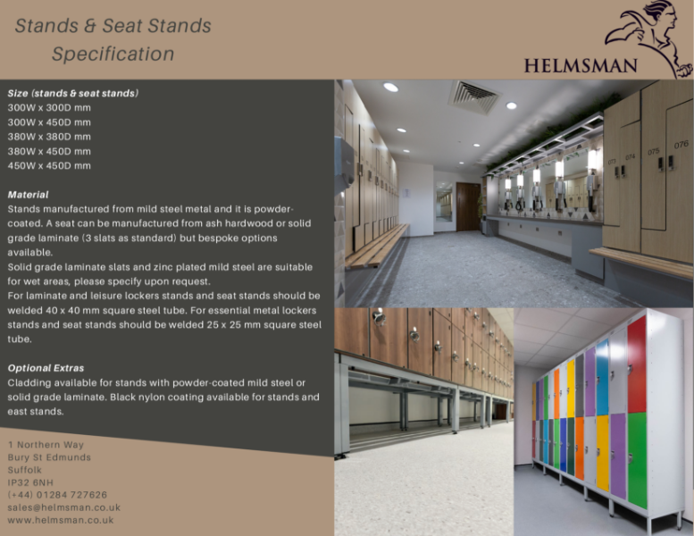 Locker Stands and Seat Stands