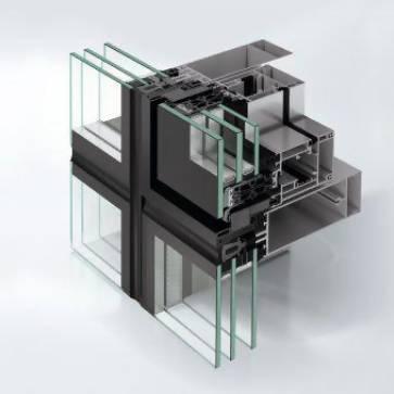 Aluminium façade insert window system - AWS114 SG