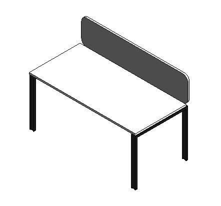 Connect3 Single Desk 1600mm