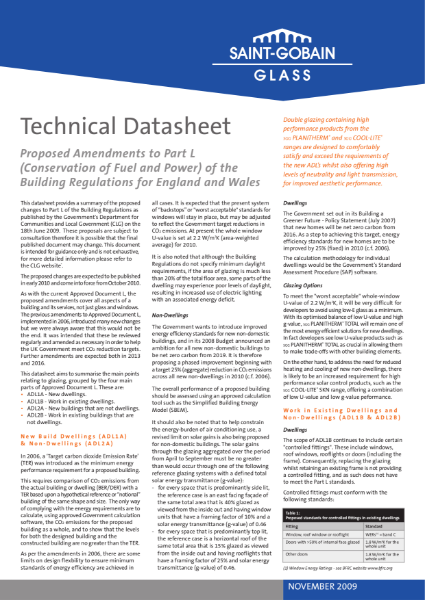 Technical Datasheet - Guidelines to Building Regulations Document L