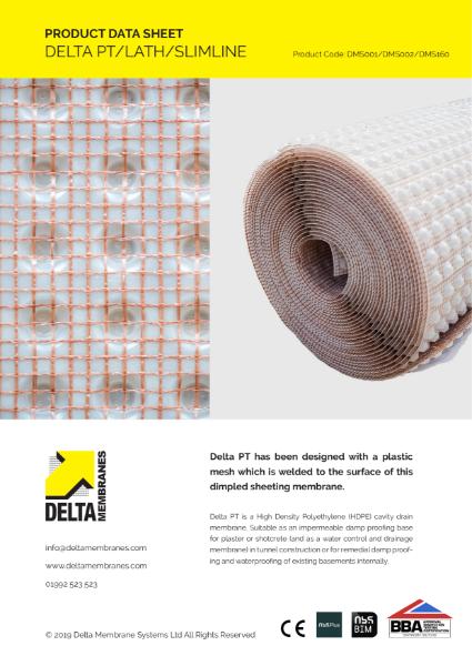 Delta PT/Lath/Slimline Product Data Sheet