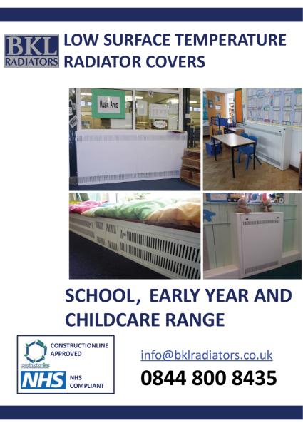 BKL Radiator Covers - School Brochure