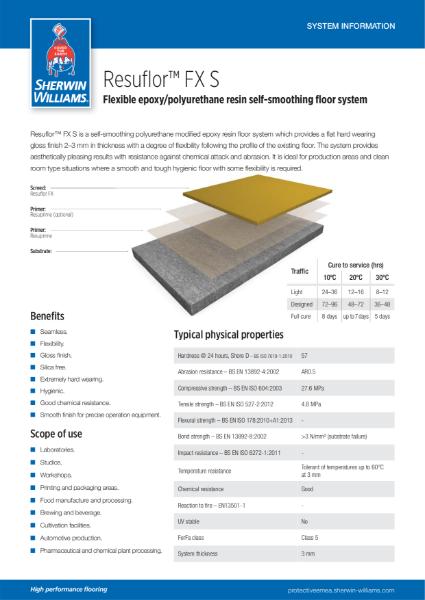 Resin flooring Resuflor FX S system