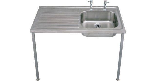 Single Bowl/ Single Drainer Medical Sink