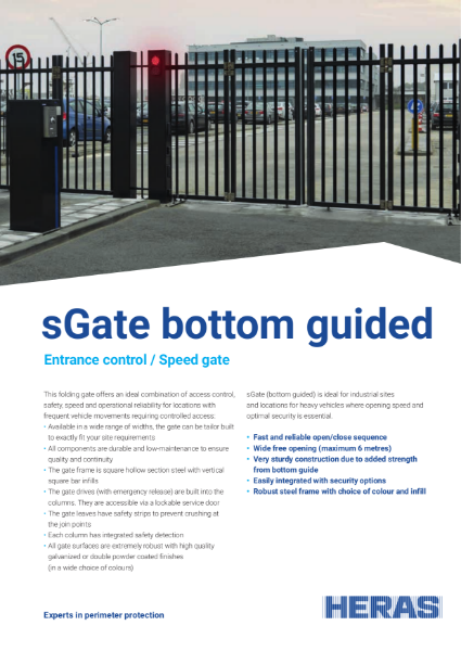 Bi-folding Speed Gate (Bottom-guided)