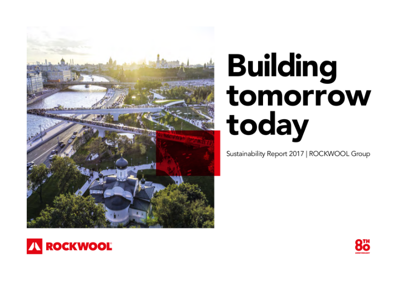 Rockfon Sustainability Report, part of the ROCKWOOL Group