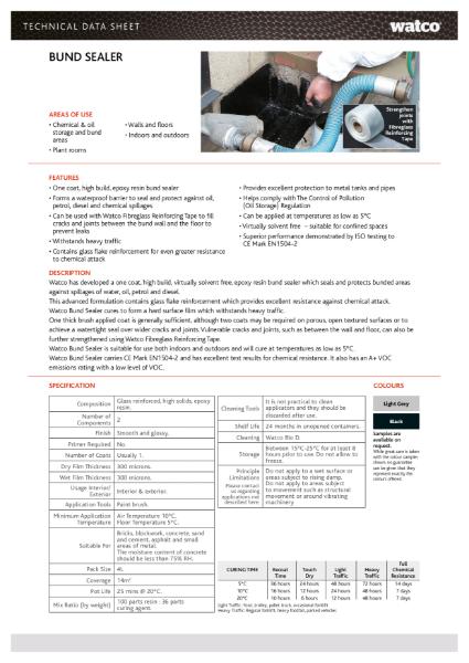 Data Sheet: Bund Sealer