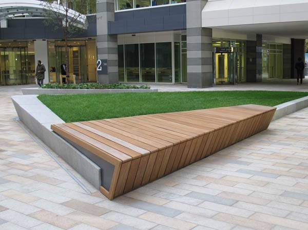 Bespoke, complex seating for Thomas More Square, London