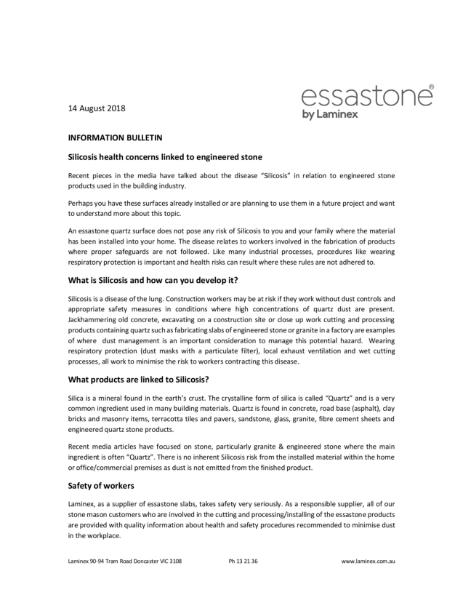 Essastone - Safety consumer Information