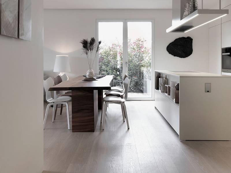 French Oak Flooring for Chic Milan Apartment