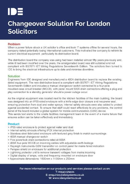 Changeover Solution For London Solicitors