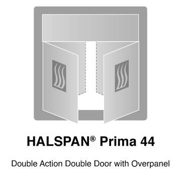 HALSPAN® Prima 44 mm Internal Fire Rated Door Blank - Double Acting Double Doors
