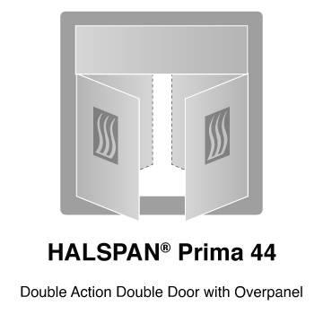 HALSPAN® Prima 44 mm Internal Fire Rated Door Blank - Double Acting Double Doors