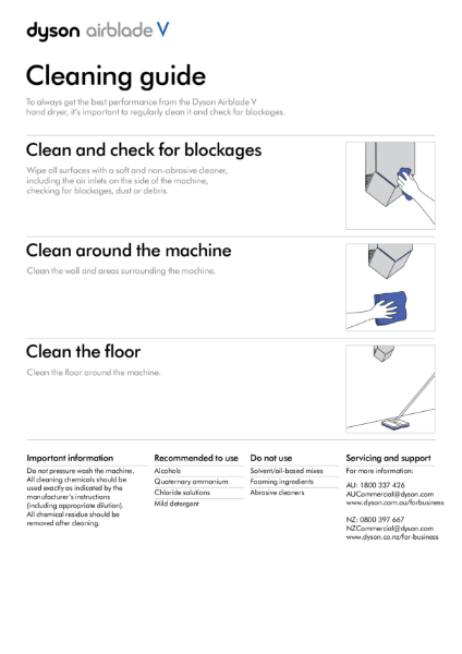 Cleaning guide - Dyson Airblade V