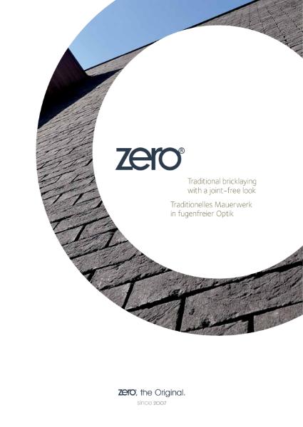 Vandersanden ZERO Bricks Brochure