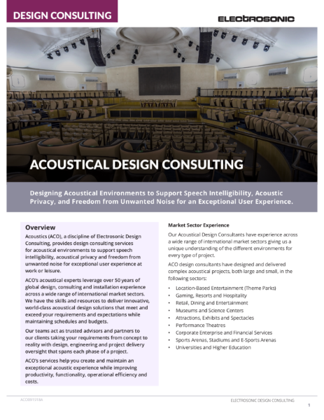 Acoustic Design Consulting
