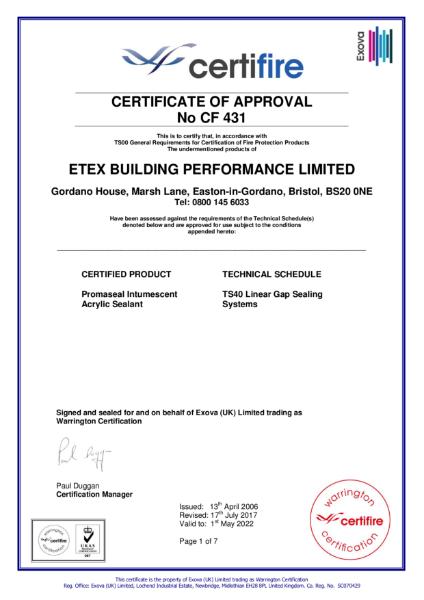 Certifire Certificate
