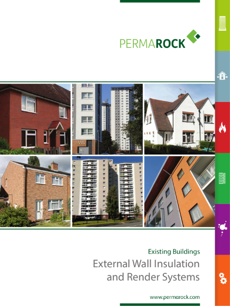 PermaRock Existing Buildings (Retrofit) Brochure - external wall insulation (solid wall), insulated cladding and render systems for the retrofit / refurbishment of building