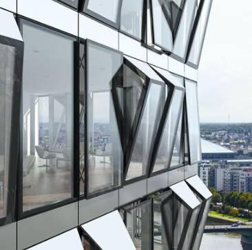 Aluminium façade insert window system - AWS114