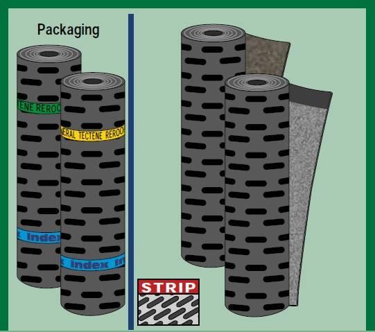TECTENE REROOF -Reinforced bitumen sheets for roofing