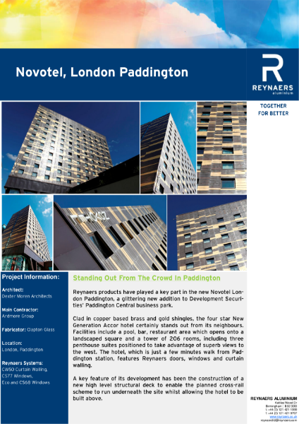 Case Study: Novotel Hotel Paddington, featuring CS 77 aluminium windows