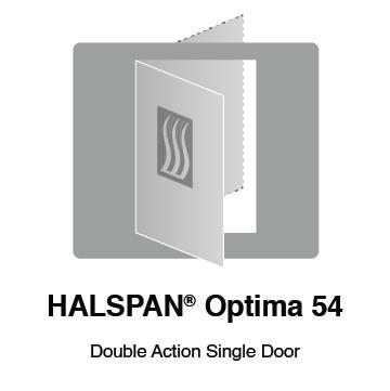 HALSPAN® Optima 54 mm Internal Fire Rated Door Blank - Double Acting Single Doors