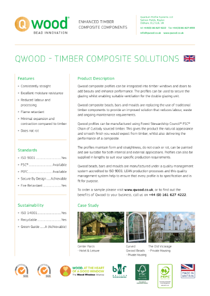 Qwood Catalogue