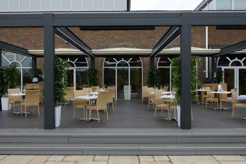 Luxury decking solution for spa alfresco dining area